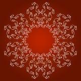 Ornamento de la frontera en un fondo rojo Imagen de archivo libre de regalías
