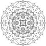 Ornamento de la mandala del contorno del vector Modelo redondo oriental imagen de archivo libre de regalías