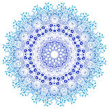 Ornamento de la mandala del vector Modelo floral redondo Imagen de archivo libre de regalías