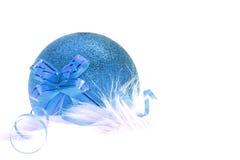 Ornamento de la Navidad azul y del Año Nuevo Foto de archivo libre de regalías