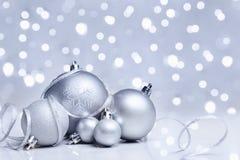Ornamento de la Navidad blanca imágenes de archivo libres de regalías