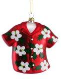 Ornamento de la Navidad de la camisa hawaiana foto de archivo libre de regalías