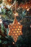 Ornamento de la Navidad de la estrella foto de archivo
