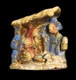 Ornamento de la Navidad de la natividad Fotos de archivo libres de regalías