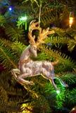 Ornamento de la Navidad del reno Fotografía de archivo libre de regalías