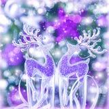 Ornamento de la Navidad del reno Fotos de archivo