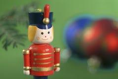 Ornamento de la Navidad del soldado de juguete Fotografía de archivo