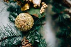 Ornamento de la Navidad en árbol Imágenes de archivo libres de regalías