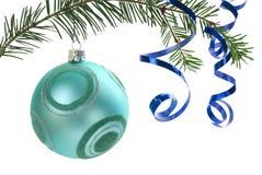 Ornamento de la Navidad en blanco Foto de archivo libre de regalías