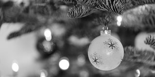 Ornamento de la Navidad que cuelga de un árbol de navidad Fotos de archivo libres de regalías