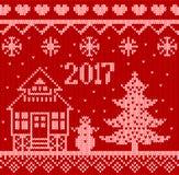 Ornamento de la Navidad Árbol, muñeco de nieve y copo de nieve Fotografía de archivo