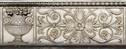Ornamento de la pared de piedra foto de archivo libre de regalías