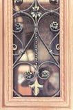 Ornamento de la puerta del hierro Foto de archivo