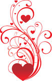 Ornamento de la tarjeta del día de San Valentín Foto de archivo libre de regalías