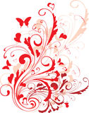 Ornamento de la tarjeta del día de San Valentín ilustración del vector