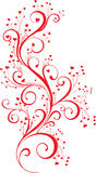 Ornamento de la tarjeta del día de San Valentín con corazón-dimensiones de una variable stock de ilustración
