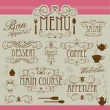 Ornamento de la vendimia del menú ilustración del vector