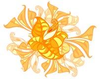 Ornamento de lirios y de hojas Ejemplo del vector de calas libre illustration