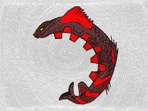 Ornamento de los pescados stock de ilustración