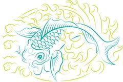 Ornamento de los pescados de Koi stock de ilustración