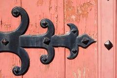Ornamento de madeira velho da porta Imagem de Stock Royalty Free