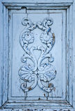 Ornamento de madera azul imagenes de archivo