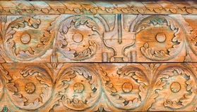 Ornamento de madera rústico Imagenes de archivo
