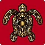 Ornamento de oro de la tortuga Imagen de archivo libre de regalías