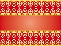 Ornamento de oro de los corazones Imagen de archivo libre de regalías