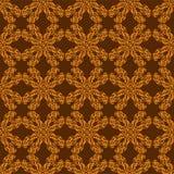 Ornamento de oro en fondo marrón stock de ilustración