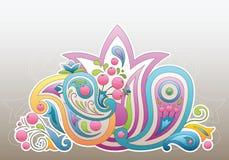 Ornamento de Paisley stock de ilustración