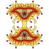 Ornamento de Paisley del arlequín Fotografía de archivo