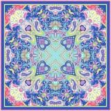 Ornamento de Paisley para la bufanda Fotografía de archivo libre de regalías