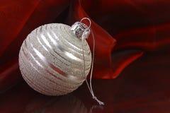 Ornamento de prata Imagem de Stock Royalty Free