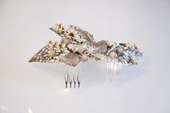 Ornamento de prata e de cobre do cabelo do casamento Imagens de Stock Royalty Free