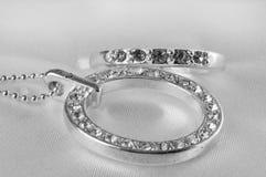 Ornamento de prata fêmeas com pastas Imagens de Stock
