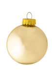 Ornamento de prata reflexivo clássico do Natal Fotos de Stock Royalty Free