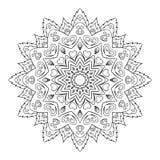 Ornamento de Roumd para el boutique, floristería, negocio, interior Marca de la compañía, emblema, elemento Mandala geométrica si Fotos de archivo