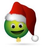 Ornamento de sorriso Santa Fotografia de Stock Royalty Free