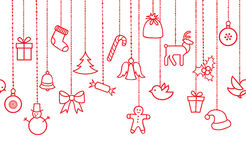 Ornamento de suspensão da decoração do feriado do Natal: Festão do Natal Imagem de Stock