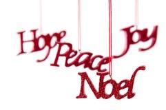 Ornamento de suspensão do Natal Imagem de Stock