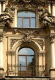 Ornamento de uma fachada de um bui Foto de Stock Royalty Free
