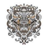 Ornamento de Viking en un estilo gráfico Ejemplo del vector del warri Foto de archivo
