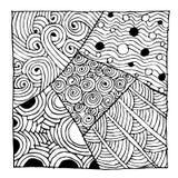 Ornamento de Zentangle, esboço para seu projeto Fotos de Stock Royalty Free
