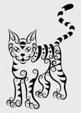 Ornamento decorativo #2 del gato Fotografía de archivo libre de regalías