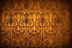 Ornamento decorativo antiguo de la pared Fotografía de archivo