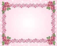 Ornamento decorativo com rosas Fotos de Stock Royalty Free