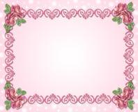 Ornamento decorativo con las rosas Fotos de archivo libres de regalías