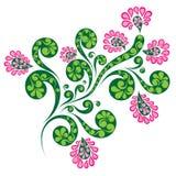 Ornamento decorativo da flor Imagens de Stock Royalty Free