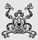 Ornamento decorativo da râ Fotografia de Stock